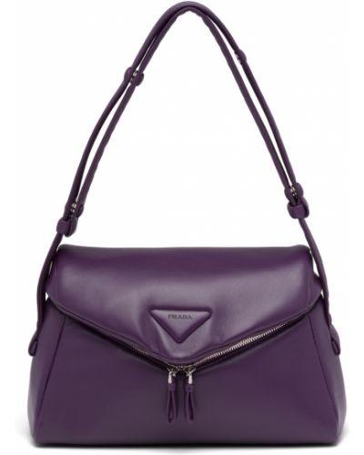 Фиолетовая сумка на плечо Prada