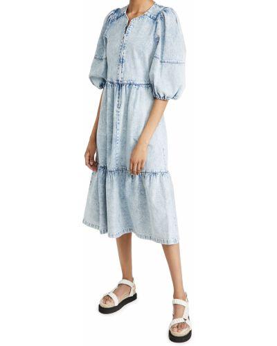 Текстильное синее платье Sea