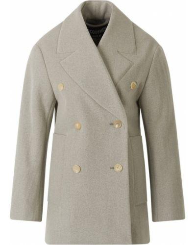 Płaszcz zapinane na guziki - szary Jacquemus
