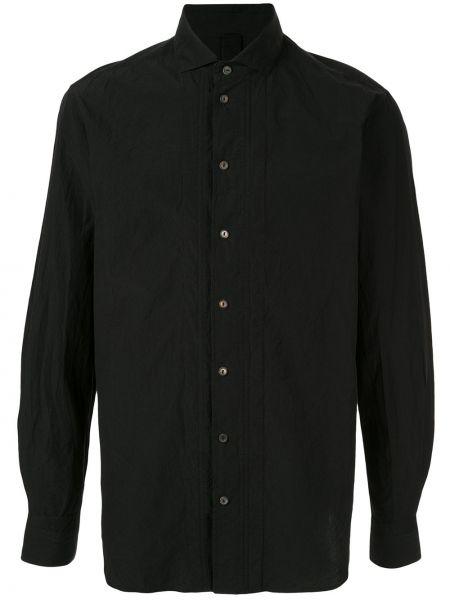 Классическая черная рубашка с воротником на пуговицах Forme D'expression