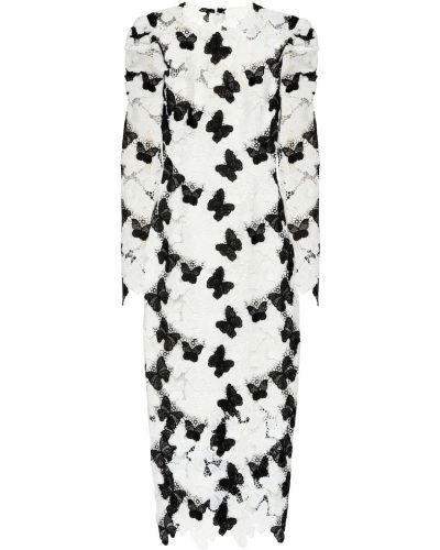 Кружевное платье - белое Monique Lhuillier
