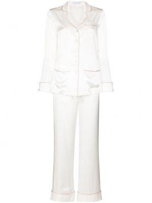 Шелковая пижама - белая Olivia Von Halle