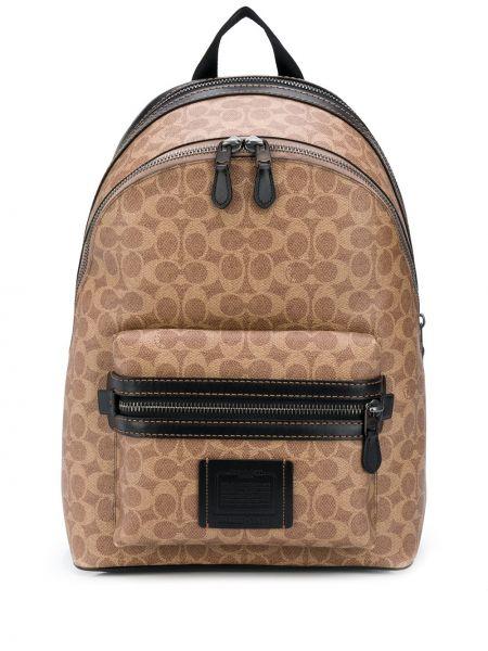 Czarny plecak z printem Coach