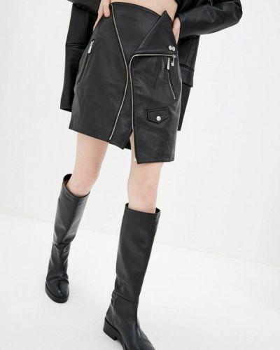 Черная кожаная юбка Miss Sixty