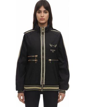 Czarna kurtka z haftem Puma X Balmain
