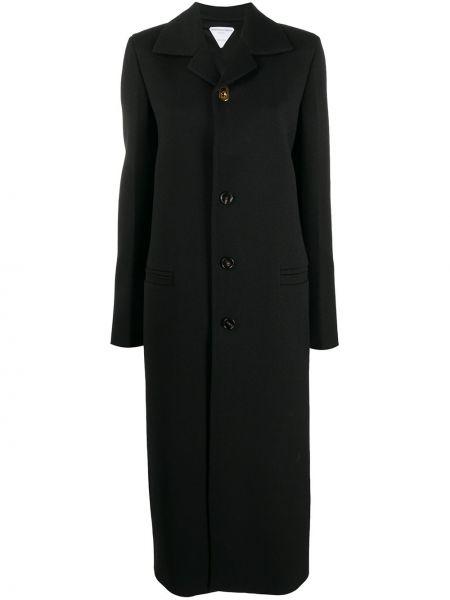 Шерстяное пальто - черное Bottega Veneta