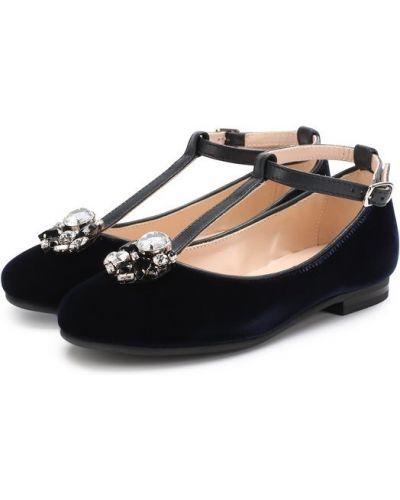Синие туфли для офиса Il Gufo