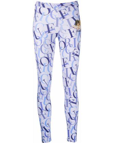 Синие облегающие леггинсы эластичные Fiorucci