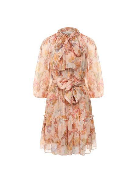 Платье с поясом в стиле бохо с цветочным принтом Zimmermann