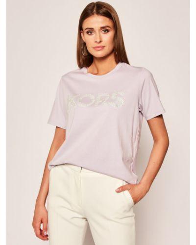 Fioletowy t-shirt Michael Michael Kors