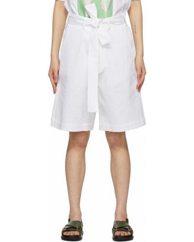 Белые шорты с карманами Plan C