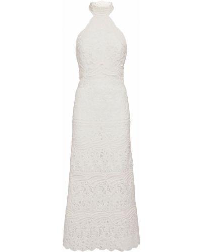 Открытое белое платье с открытой спиной Ermanno Scervino