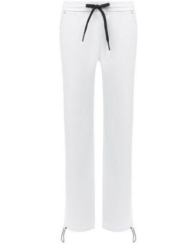 Хлопковые белые брюки с поясом на шнурках Iceberg
