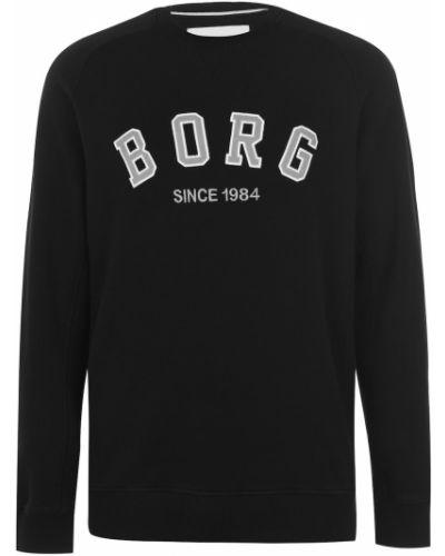 Klasyczny długi sweter z haftem bawełniany Björn Borg