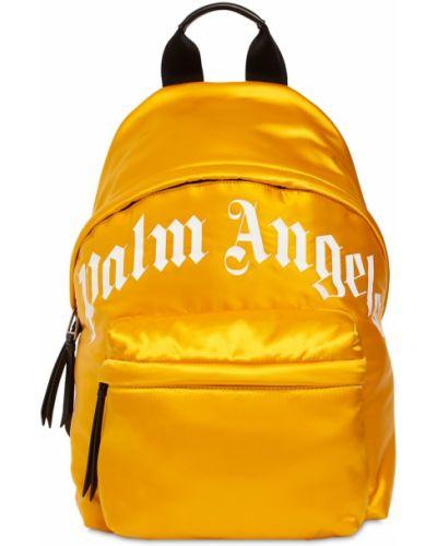 Plecak skórzany - żółty Palm Angels