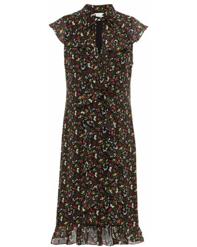 Шифоновое черное платье с подкладкой Mikael Aghal