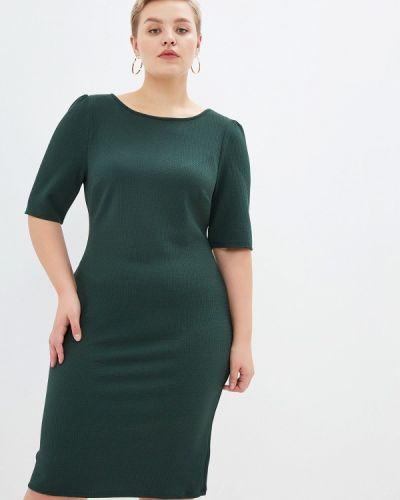 Повседневное платье осеннее зеленый Dorothy Perkins Curve
