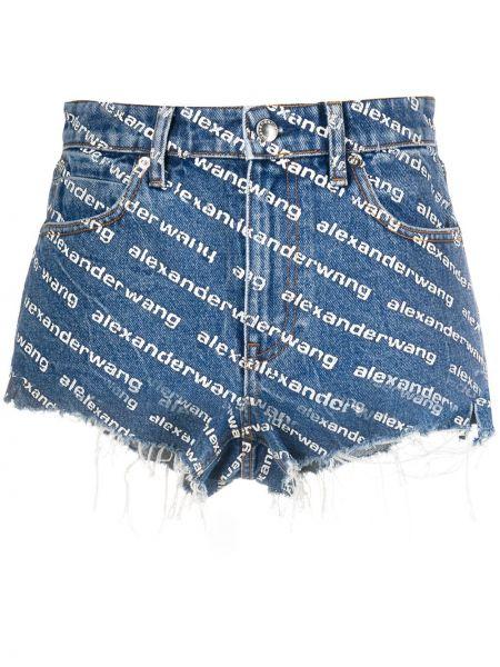 Джинсовые шорты с карманами синий Alexander Wang