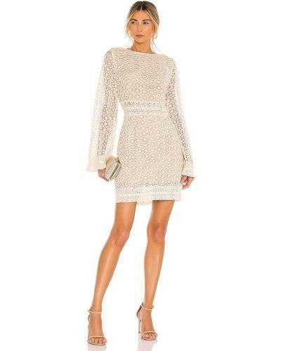 Бежевое деловое кружевное платье Elliatt