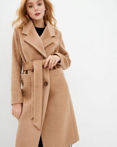 Коричневое пальто двубортное Danna