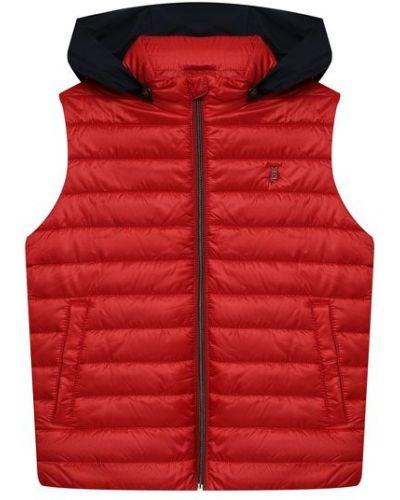 Красная жилетка с капюшоном Herno