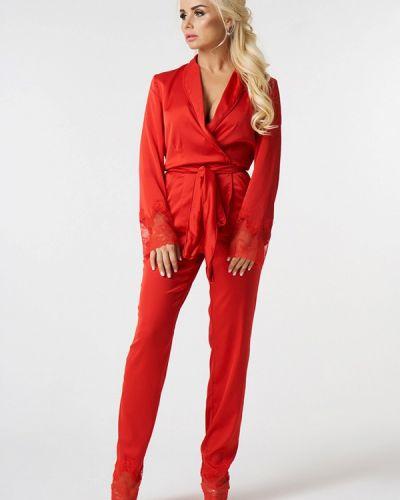 Брючный костюм красный Luxlook
