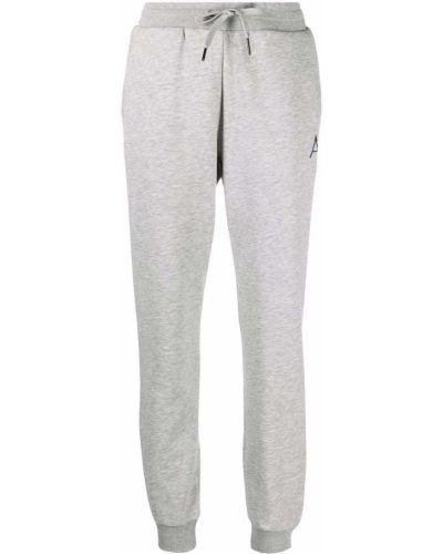 Хлопковые серые спортивные брюки с поясом Armani Exchange