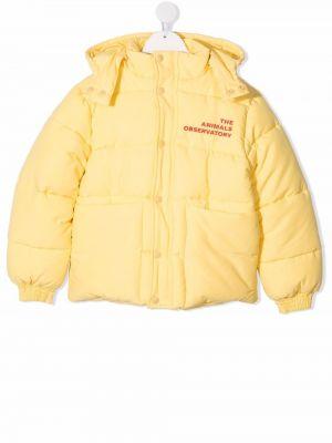 Żółta długa kurtka pikowana bawełniana The Animals Observatory