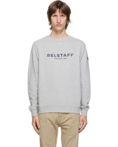 Frotte czarny bluza z długimi rękawami z mankietami Belstaff
