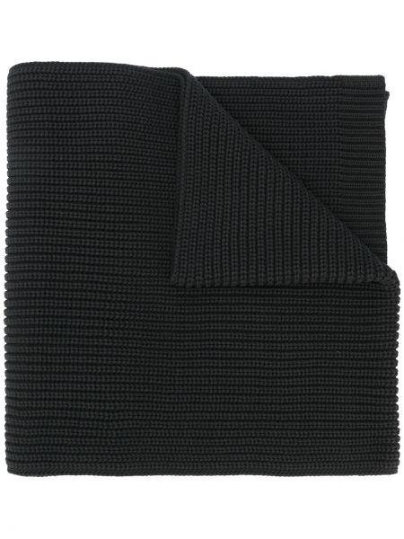 Шерстяной черный шарф с карманами Y-3