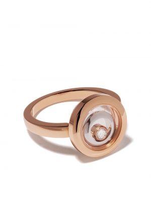 Z rombem biały pierścień z diamentem Chopard