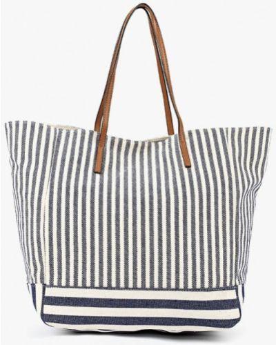 Синяя сумка шоппер Jennyfer