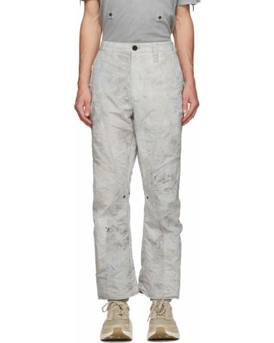 Białe spodnie z paskiem z nylonu Blackmerle