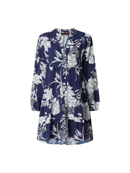Sukienka rozkloszowana z falbanami - niebieska Miss Goodlife