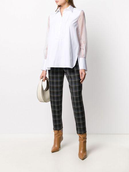 Шерстяные серые брюки с карманами Antonelli