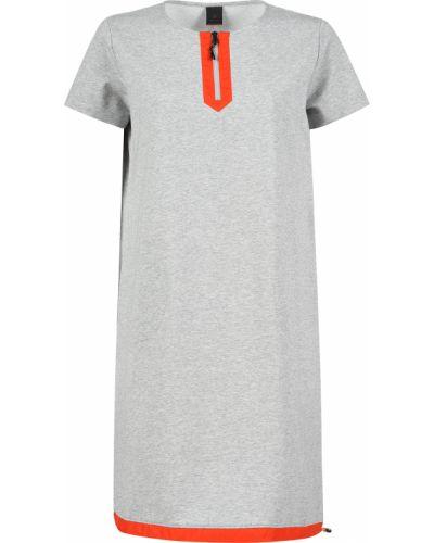 Хлопковое платье - серое Bogner