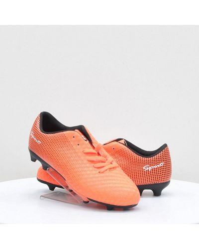Оранжевые кожаные кроссовки среднего размера Caroc
