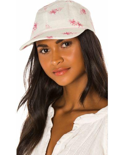 Różowy kapelusz elegancki z jedwabiu Loveshackfancy