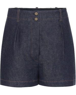 Джинсовые шорты с завышенной талией синий Alaïa