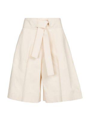 Ciepłe beżowe szorty bawełniane Jil Sander