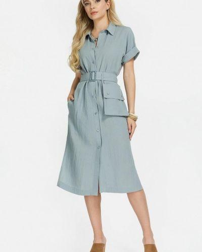 Бирюзовое зимнее платье Clever Woman Studio