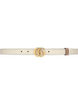 Pasek skórzany - biały Gucci
