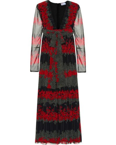 Платье миди деловое с цветочным принтом Redvalentino