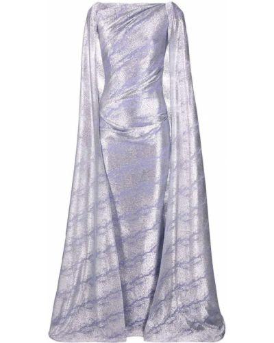 Платье макси длинное - фиолетовое Talbot Runhof