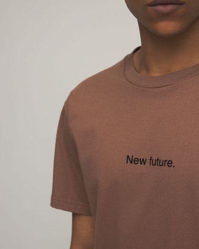 Brązowy t-shirt bawełniany Famt - Fuck Art Make Tees