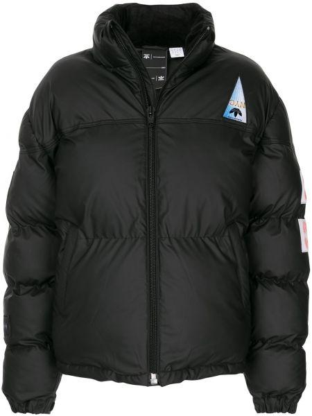 Клубная черная длинная куртка с вышивкой с манжетами Adidas Originals By Alexander Wang