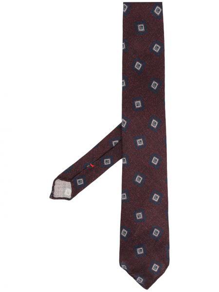 Шелковый красный галстук Dell'oglio
