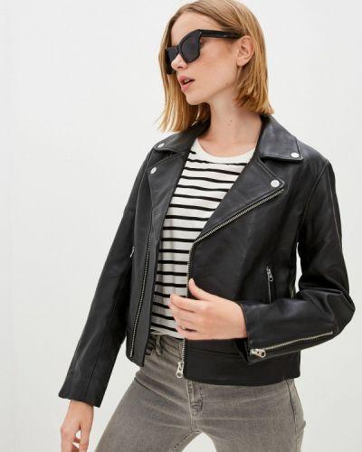 Черная кожаная куртка осенняя Calvin Klein