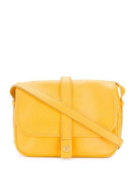 Кожаная сумка на плечо с логотипом Hermès