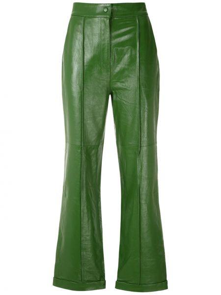 Кожаные кюлоты - зеленые Eva